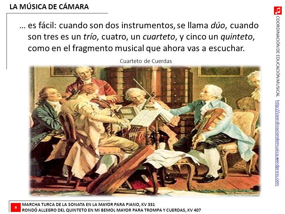 COORDINACIÓN DE EDUCACIÓN MUSICAL http://coordinaciondemusica.wordpress.comhttp://coordinaciondemusica.wordpress.com … es fácil: cuando son dos instru