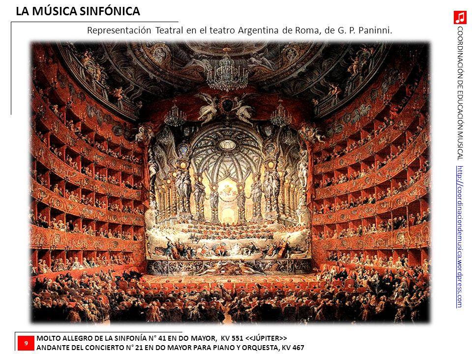 COORDINACIÓN DE EDUCACIÓN MUSICAL http://coordinaciondemusica.wordpress.comhttp://coordinaciondemusica.wordpress.com LA MÚSICA SINFÓNICA MOLTO ALLEGRO