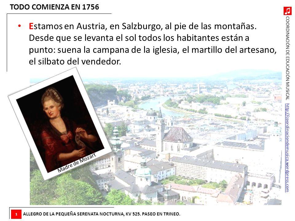 COORDINACIÓN DE EDUCACIÓN MUSICAL http://coordinaciondemusica.wordpress.comhttp://coordinaciondemusica.wordpress.com El Réquiem … El último fragmento que oiremos es también el último que Mozart compuso antes de morir en 1791: es el Réquiem, una música que se toca para los muertos.