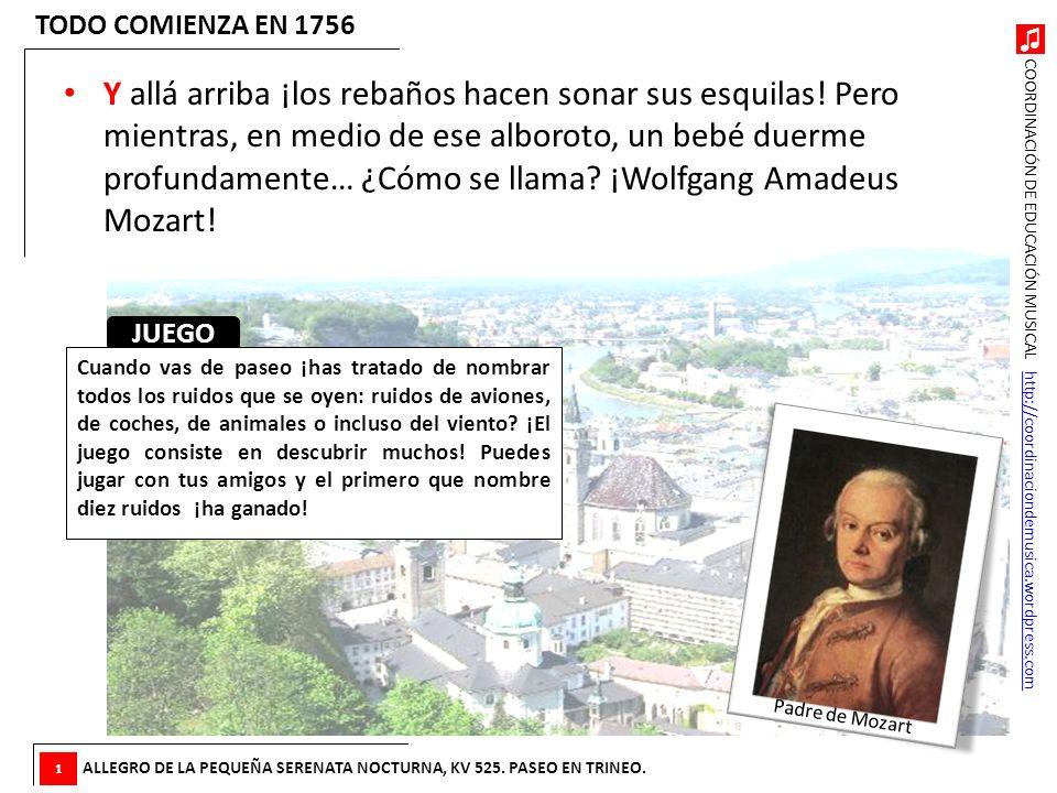 COORDINACIÓN DE EDUCACIÓN MUSICAL http://coordinaciondemusica.wordpress.comhttp://coordinaciondemusica.wordpress.com Y allá arriba ¡los rebaños hacen