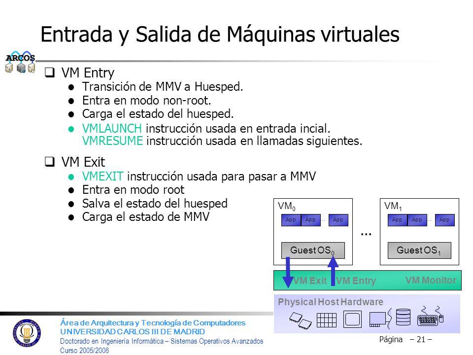Área de Arquitectura y Tecnología de Computadores UNIVERSIDAD CARLOS III DE MADRID Doctorado en Ingeniería Informática – Sistemas Operativos Avanzados