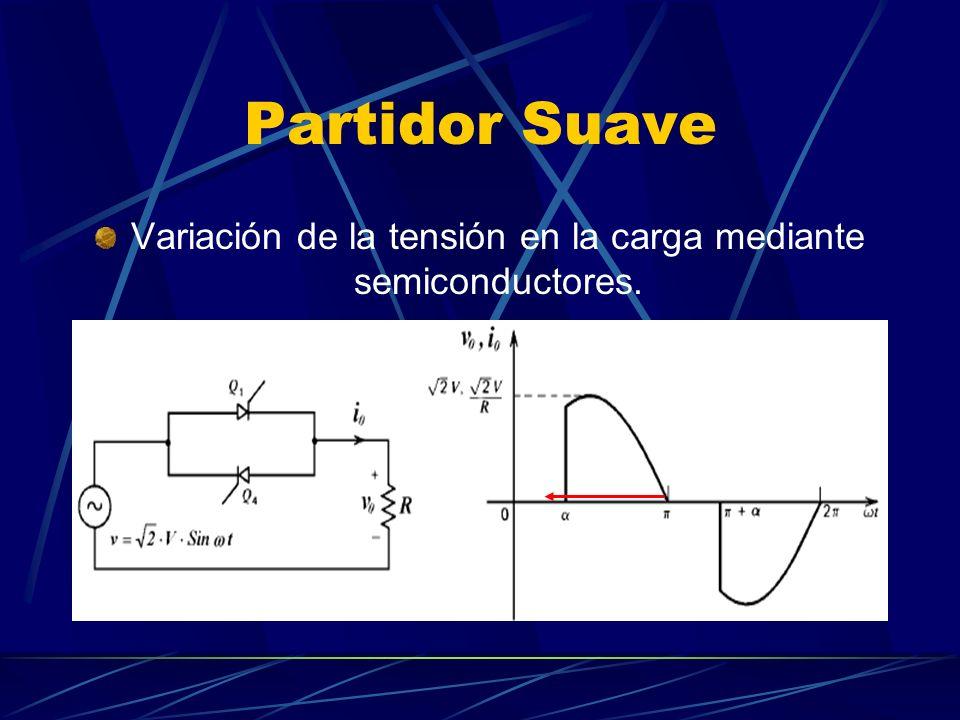 Partidor Suave Variación de la tensión en la carga mediante semiconductores.