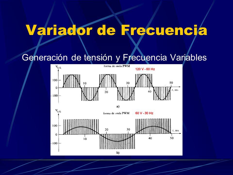 Variador de Frecuencia Generación de tensión y Frecuencia Variables