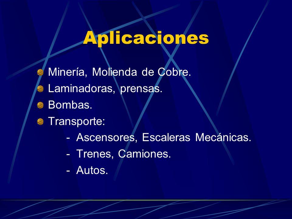 Aplicaciones Minería, Molienda de Cobre.Laminadoras, prensas.