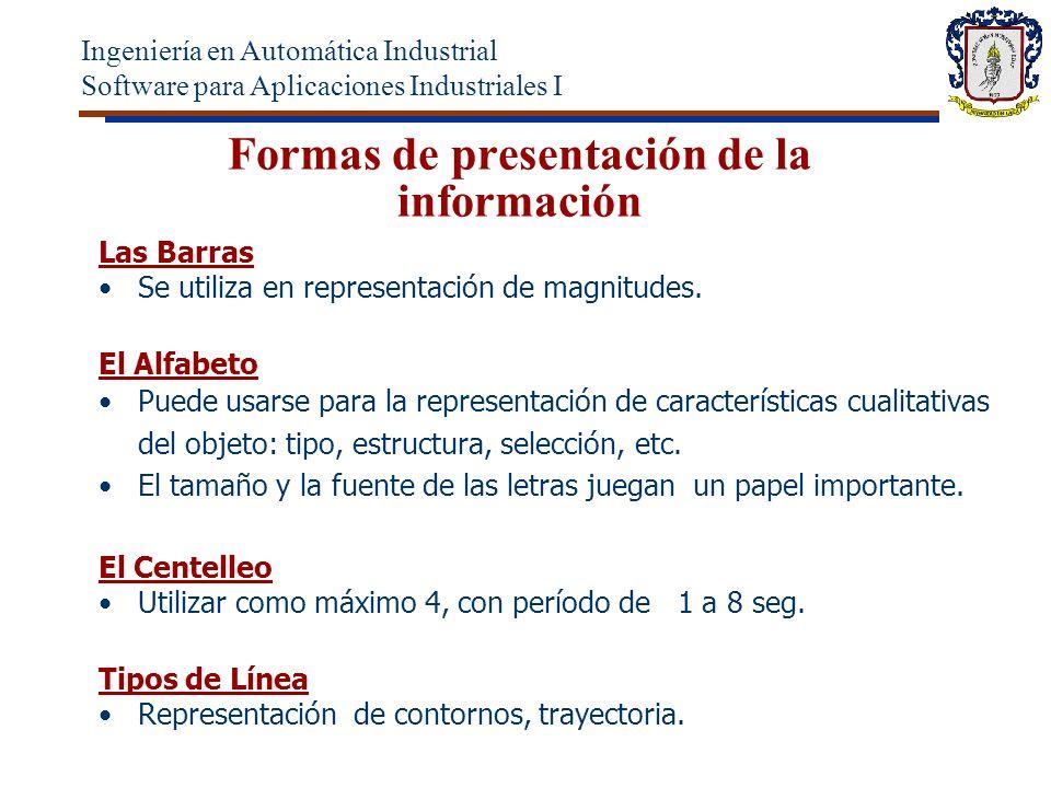 Formas de presentación de la información Las Barras Se utiliza en representación de magnitudes.