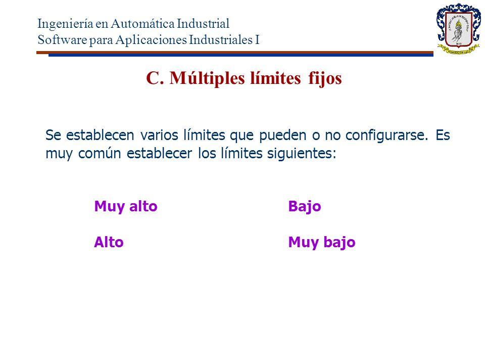 C.Múltiples límites fijos Se establecen varios límites que pueden o no configurarse.