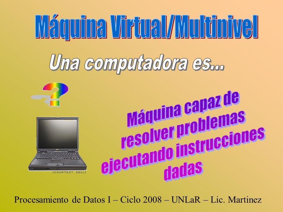 Procesamiento de Datos I – Ciclo 2008 – UNLaR – Lic. Martinez