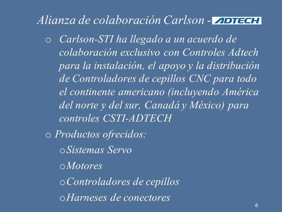 Alianza de colaboración Carlson - o Carlson-STI ha llegado a un acuerdo de colaboración exclusivo con Controles Adtech para la instalación, el apoyo y
