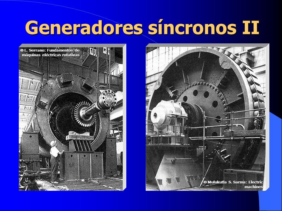 Generadores síncronos II L. Serrano: Fundamentos de máquinas eléctricas rotativas L. Serrano: Fundamentos de máquinas eléctricas rotativas Mulukutla S