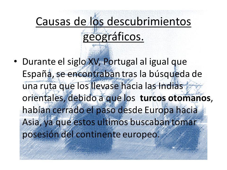 Portugal Situación: Los reyes portugueses se encontraban en condiciones de realizar viajes de descubrimiento, ya que contaban con: Una clase alta (Nobles) que gozaba de una estable situación económica.
