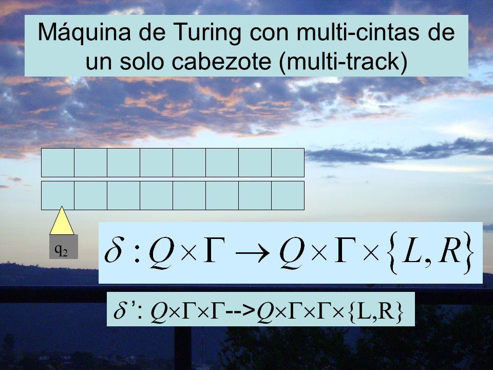 Máquina de Turing con cintas de doble sentido (two-way tape). q2q2