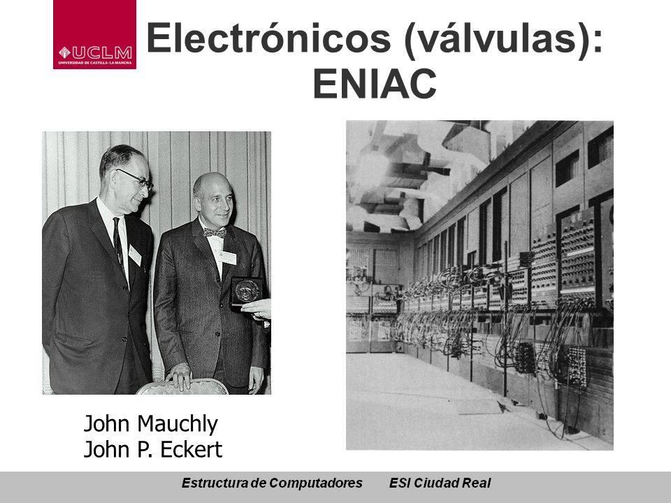 Electrónicos (válvulas): ENIAC John Mauchly John P. Eckert