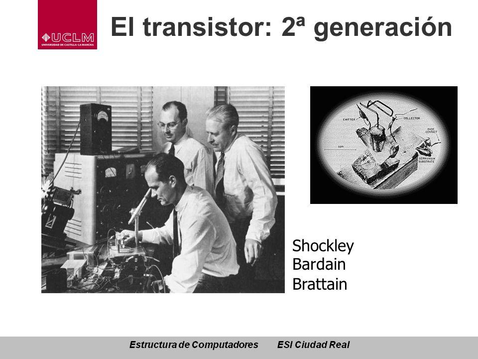 El transistor: 2ª generación Shockley Bardain Brattain /