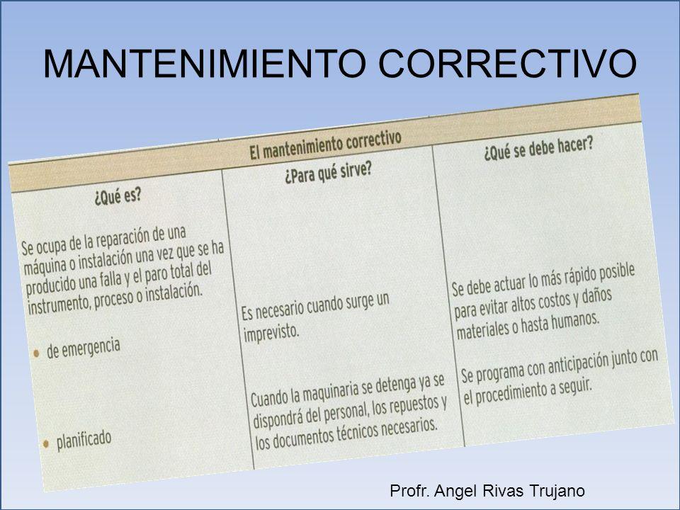 MANTENIMIENTO CORRECTIVO Profr. Angel Rivas Trujano