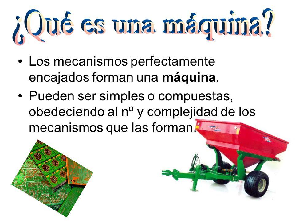Las piezas básicas, capaces de realizar una función, reciben el nombre de operadores mecánicos.