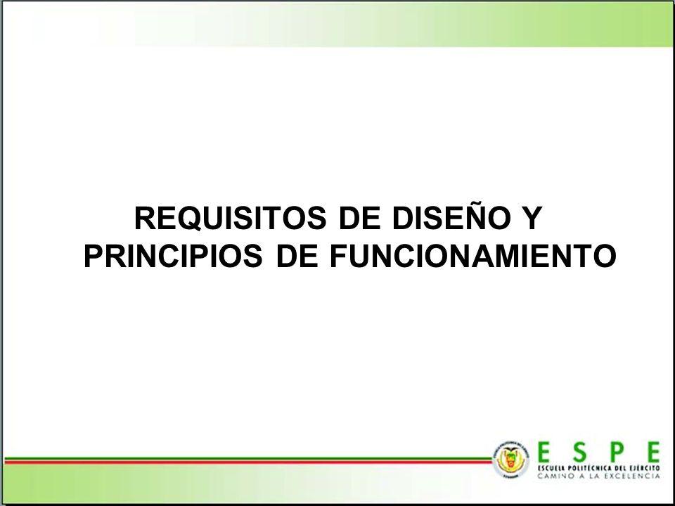 REQUISITOS DE DISEÑO Y PRINCIPIOS DE FUNCIONAMIENTO