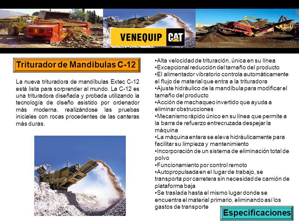 Triturador de Mandíbulas C-12 La nueva trituradora de mandíbulas Extec C-12 está lista para sorprender al mundo.