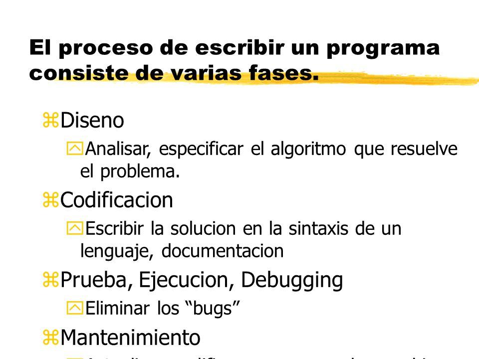 Contestacion zUna vez se escriba la solucion como una sucesion de instrucciones, la computadora puede repetir la solucion bien rapidamente y consisten