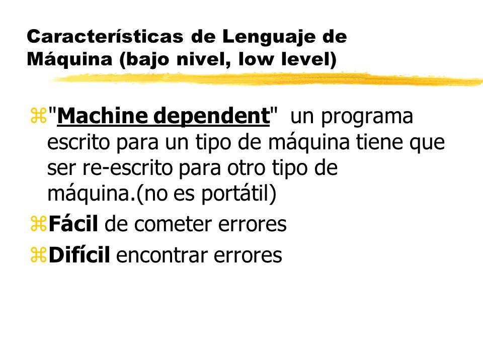 zLos programadores de las primeras computadoras, al final de la década de los años 1940 tenían que programar en lenguaje de máquina.