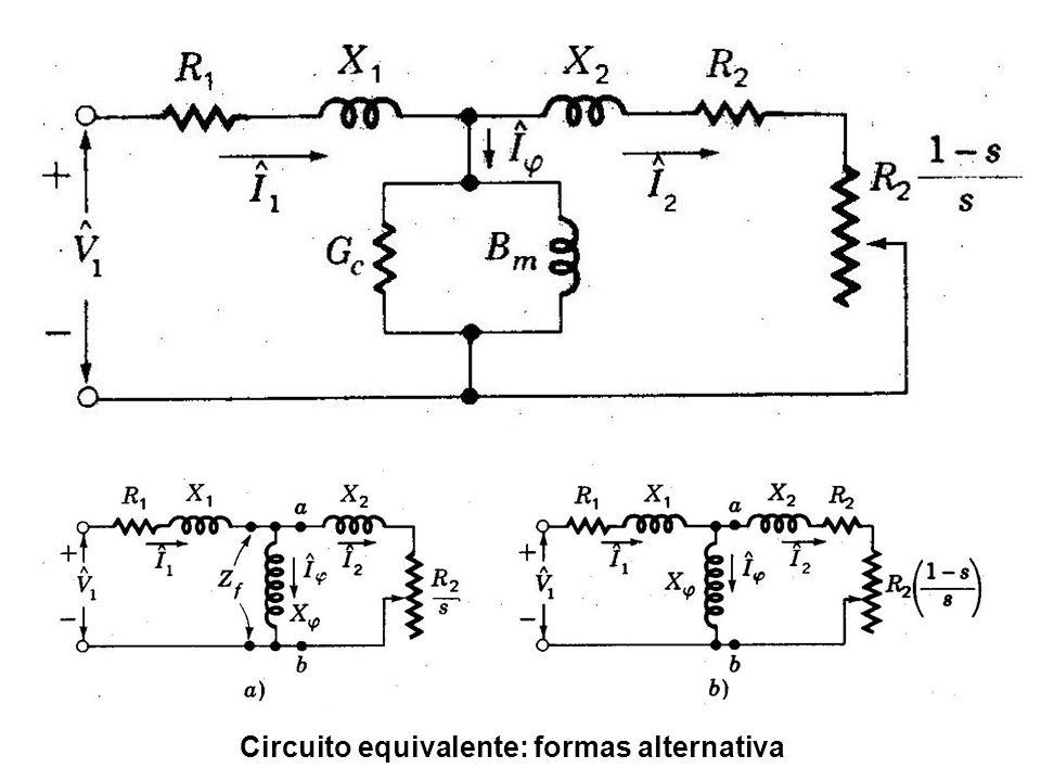 Circuito equivalente: formas alternativa