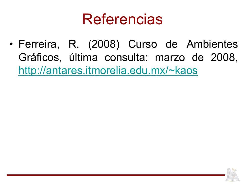 Referencias Ferreira, R.