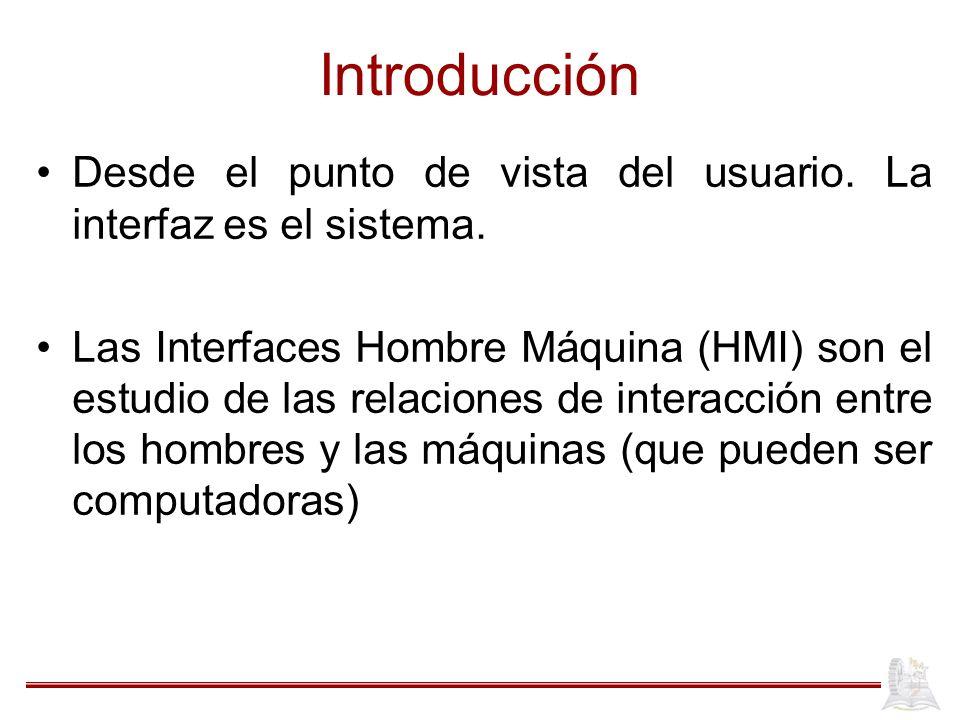 Introducción La HMI es un área interdisciplinaria ya que toma de base a ciencias como filosofía, psicología, lingüística, arte, computación, etc.