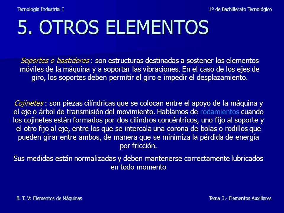 5.OTROS ELEMENTOS Tecnología Industrial I 1º de Bachillerato Tecnológico B.