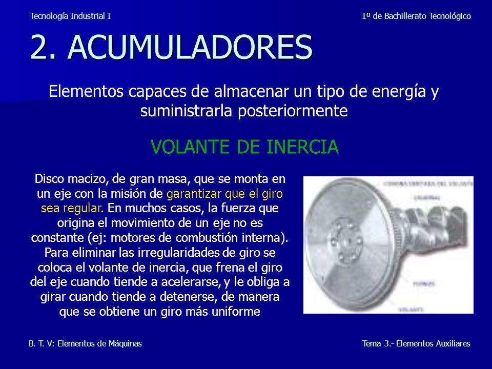 2.ACUMULADORES Tecnología Industrial I 1º de Bachillerato Tecnológico B.