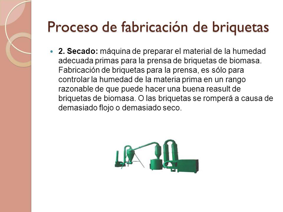 Proceso de fabricación de briquetas 2.