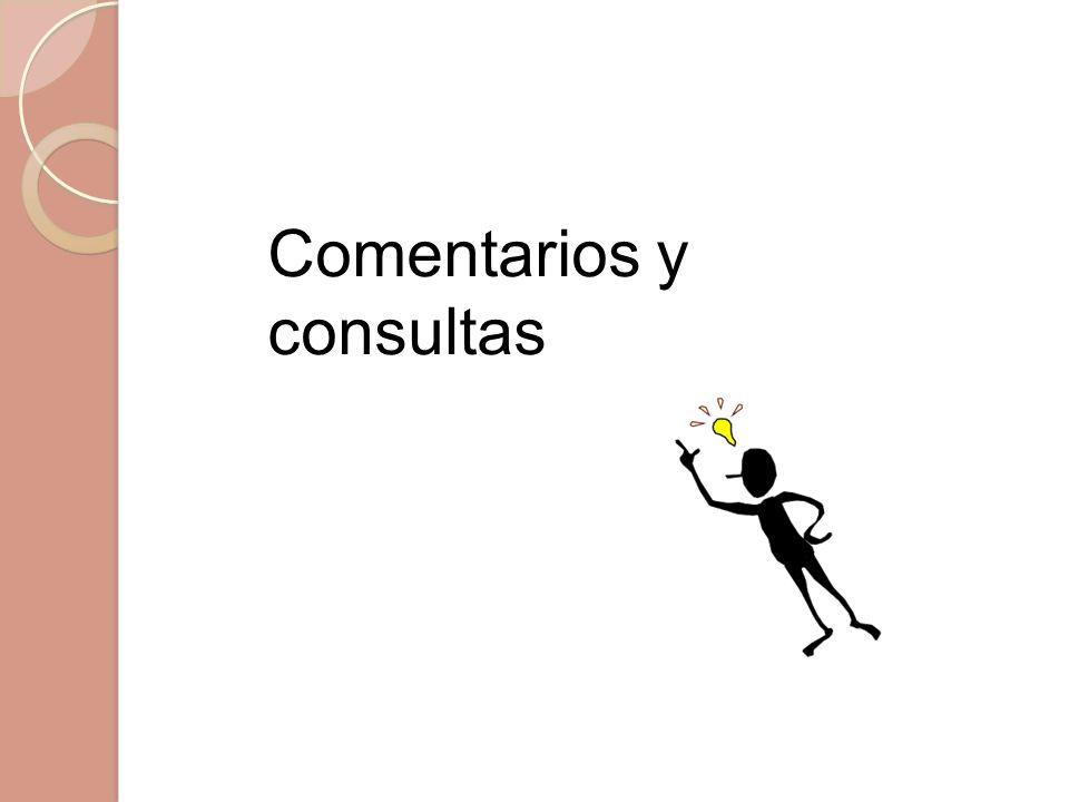 Comentarios y consultas
