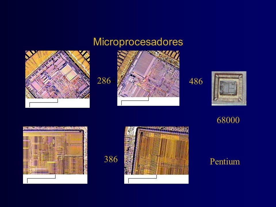 Microprocesadores 2864 386 Pentium 486 68000