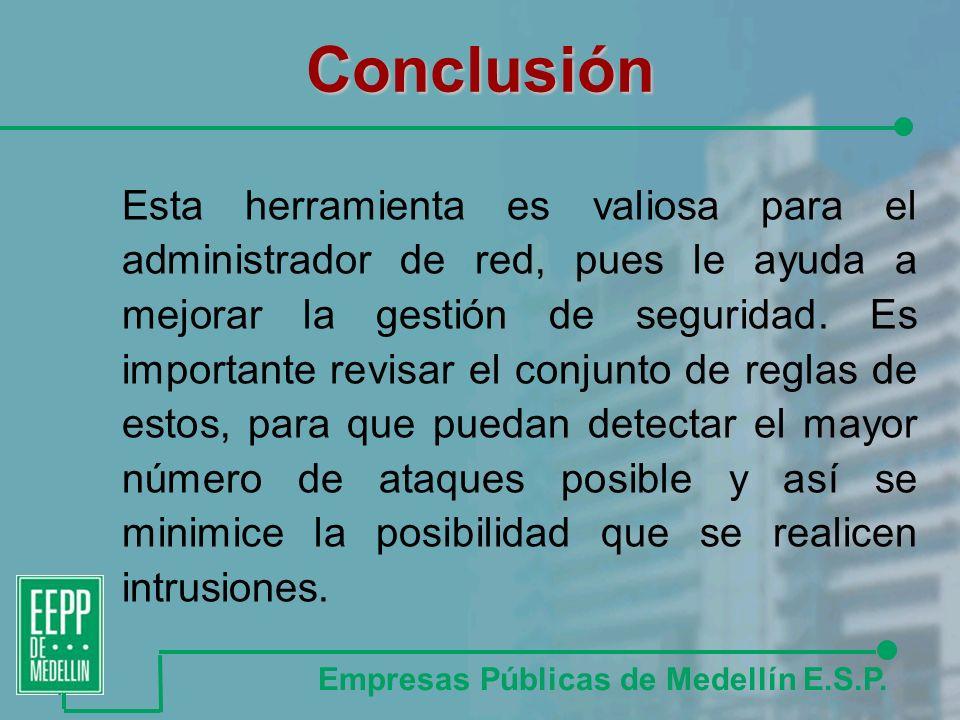 Conclusión Empresas Públicas de Medellín E.S.P.