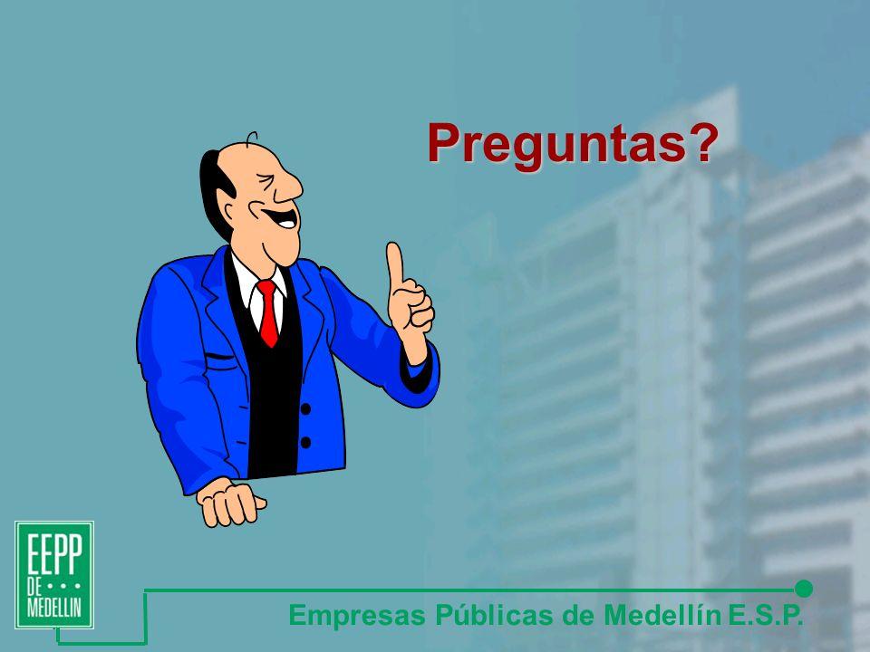 Preguntas? Empresas Públicas de Medellín E.S.P.