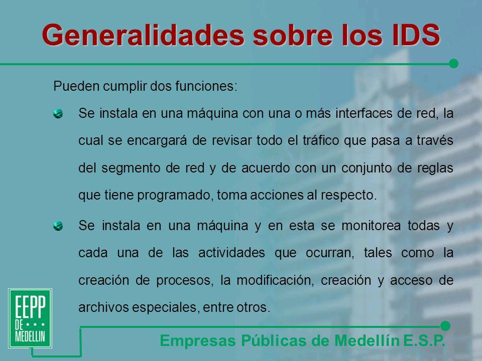 Generalidades sobre los IDS Empresas Públicas de Medellín E.S.P.