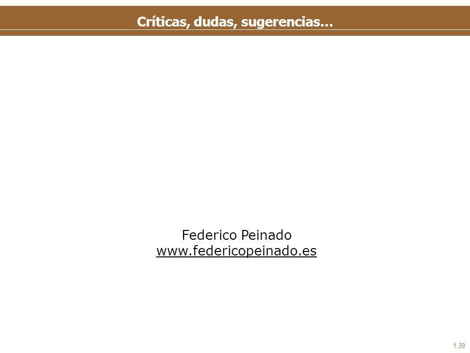 1.39 Críticas, dudas, sugerencias… Federico Peinado www.federicopeinado.es