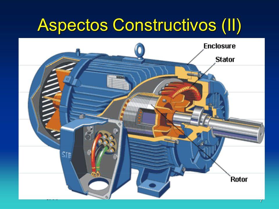 J.F.A.18 Principio de funcionamiento (IV) El flujo giratorio atraviesa las espiras del rotor.