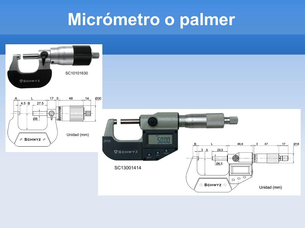 Micrómetro o palmer
