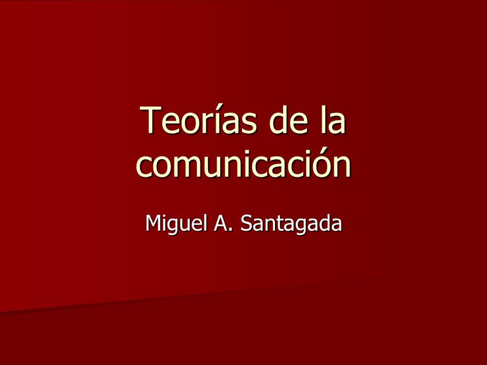Teorías de la comunicación Miguel A. Santagada
