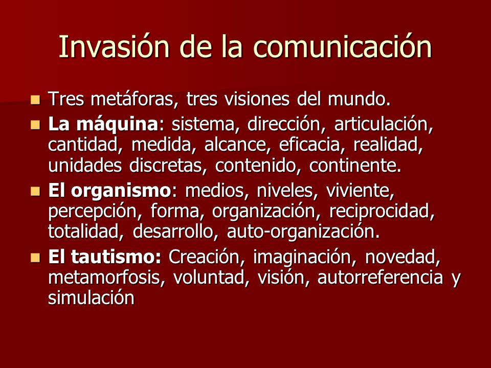 Invasión de la comunicación Tres metáforas, tres visiones del mundo.