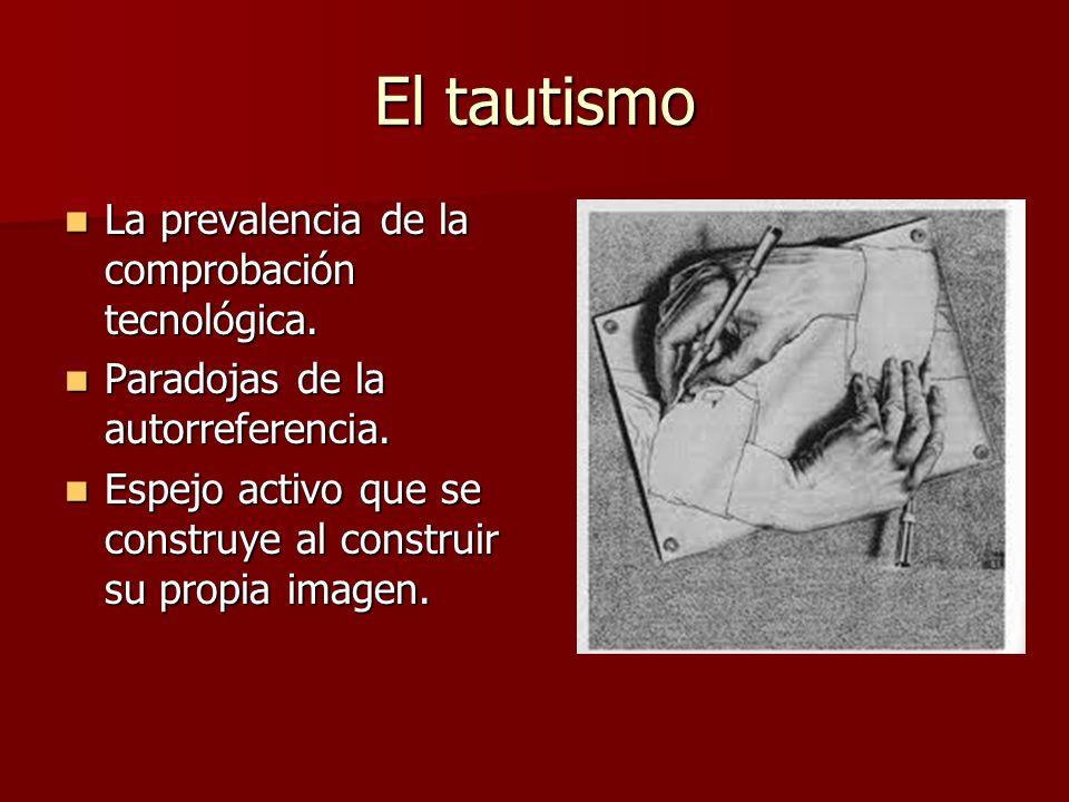 El tautismo La prevalencia de la comprobación tecnológica.