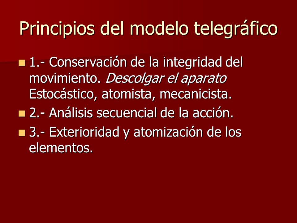 Principios del modelo telegráfico 1.- Conservación de la integridad del movimiento.