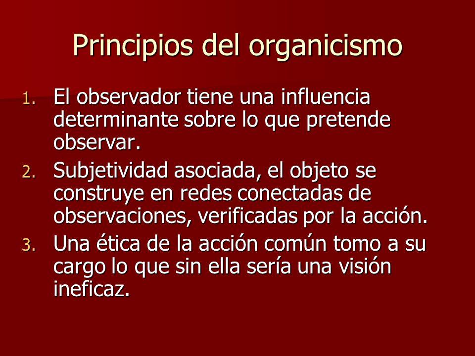 Principios del organicismo 1.