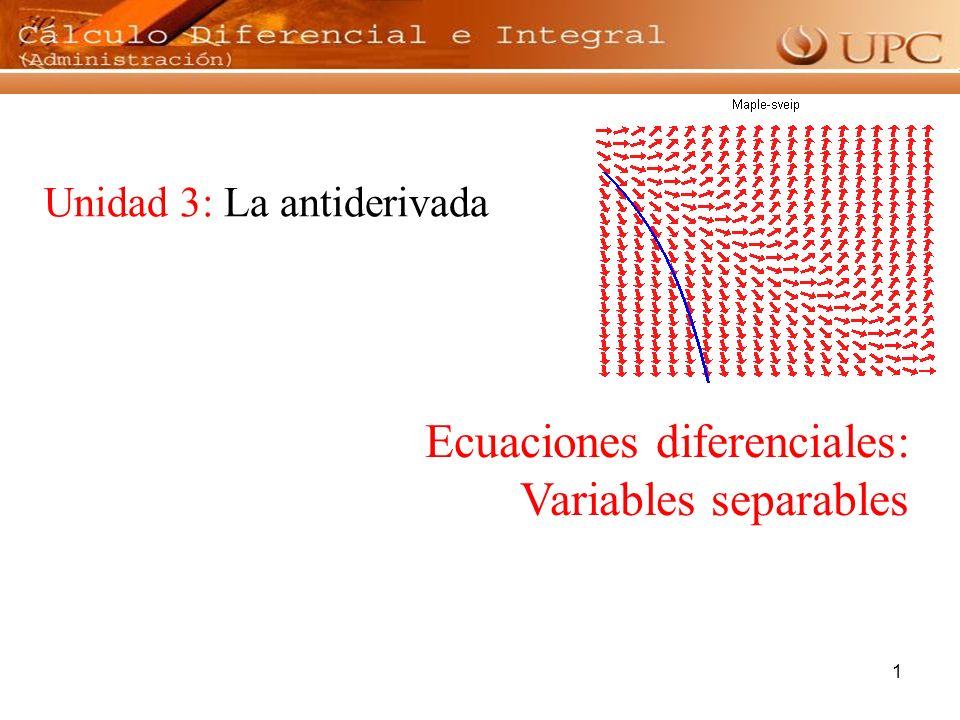 2 De la frase: La rapidéz con que cambia el ingreso respecto al tiempo es proporcional al tiempo ¿Qué característica se presenta en esta ecuación.