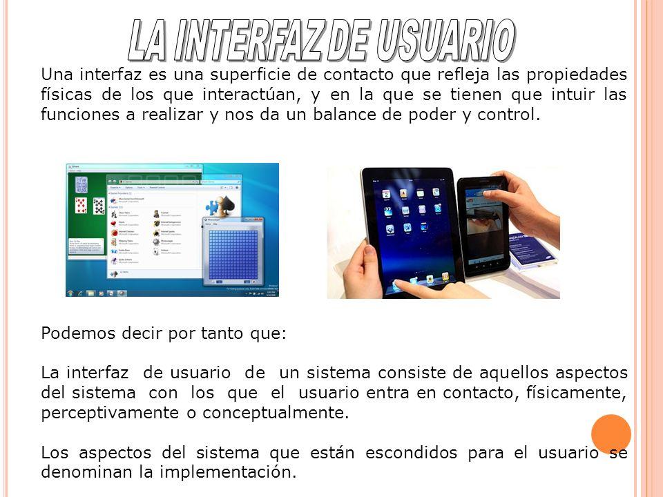 En las siguientes imágenes podemos ver diferentes ejemplos de interfaces de dispositivos interactivos.