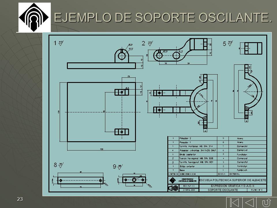 23 EJEMPLO DE SOPORTE OSCILANTE.