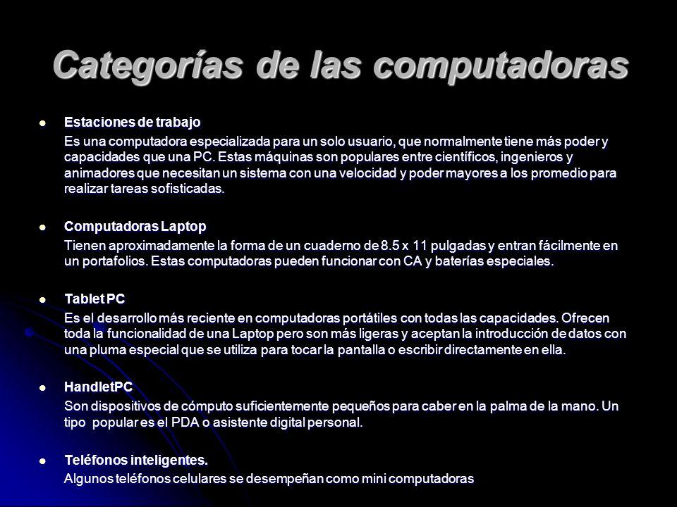 Estaciones de trabajo Estaciones de trabajo Es una computadora especializada para un solo usuario, que normalmente tiene más poder y capacidades que una PC.