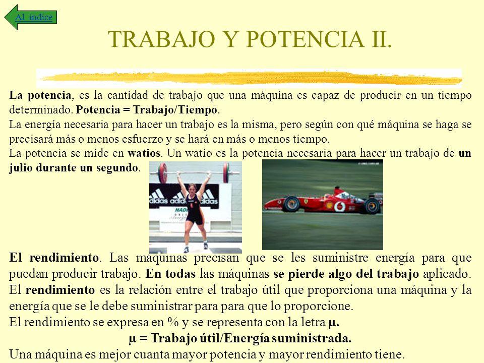 TRABAJO Y POTENCIA II.