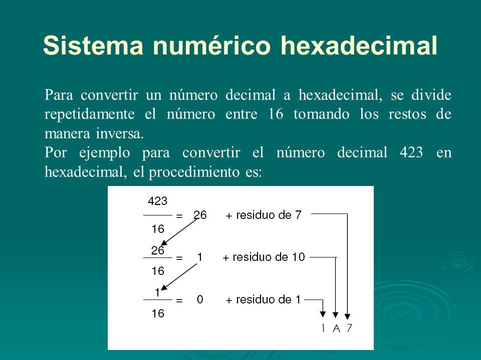 Representación de enteros Para calcular el complemento a 2 de un número, se invierten los 0 s por 1 s y los 1 s por 0 s y luego se le suma 1 al número.