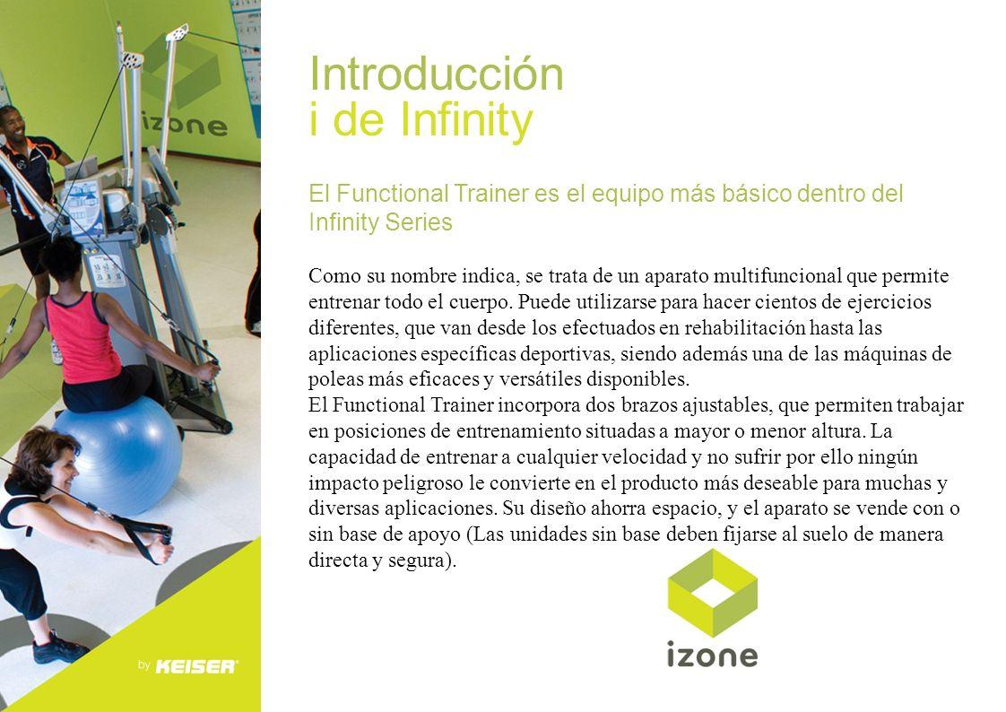 Introducción i de Infinity El Functional Trainer es el equipo más básico dentro del Infinity Series Como su nombre indica, se trata de un aparato mult