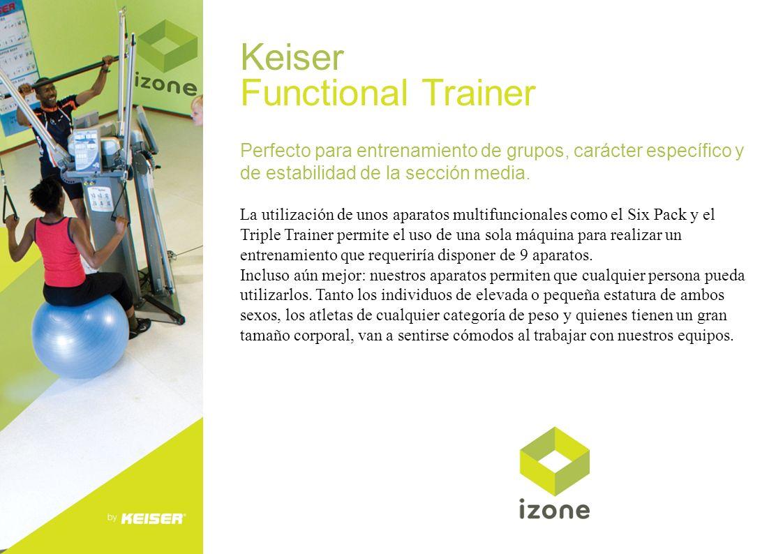 Keiser Functional Trainer Perfecto para entrenamiento de grupos, carácter específico y de estabilidad de la sección media. La utilización de unos apar